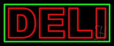 Red Deli 1 LED Neon Sign