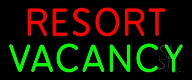Resort Vacancy 2 Neon Sign