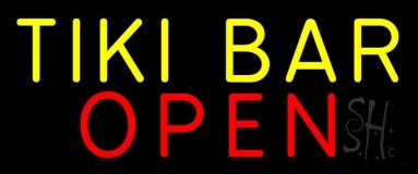 Tiki Bar Open 2 LED Neon Sign