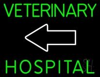 Veterinary Hospital With Arrow 1 LED Neon Sign