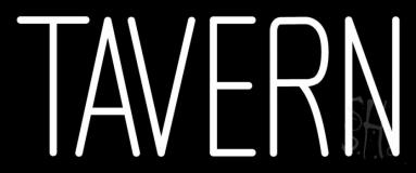 White Tavern 2 LED Neon Sign