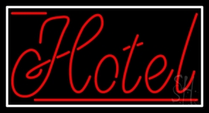 Cursive Red Hotel 1 LED Neon Sign