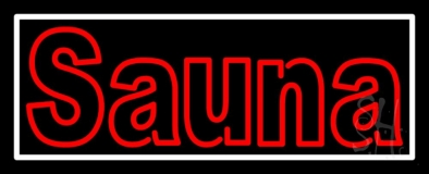 Double Stroke Red Sauna LED Neon Sign