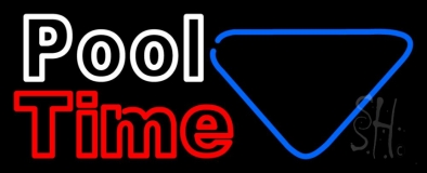 Double Stroke Pool Time With Billiard LED Neon Sign