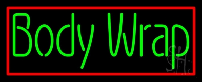 Green Body Wraps With Red Border LED Neon Sign