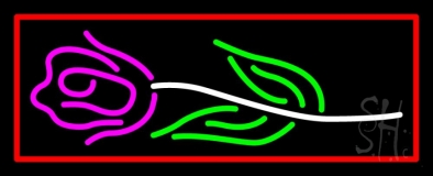 Rose Logo With Red Border LED Neon Sign