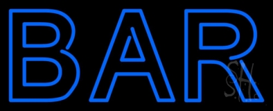 Double Stroke Blue Bar LED Neon Sign