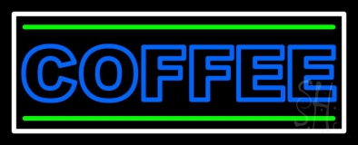 Double Stroke Blue Coffee LED Neon Sign
