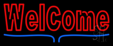 Double Stroke Decorative Welcome Bar With LED Neon Sign