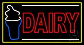 Double Stroke Red Dairy LED Neon Sign