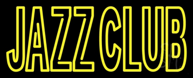 Double Stroke Red Jazz Club With Yellow Border LED Neon Sign