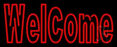 Double Stroke Red Welcome LED Neon Sign