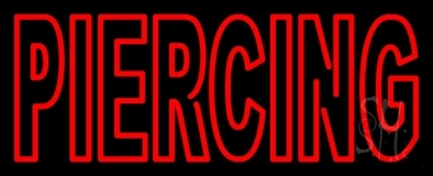 Red Piercing 1 LED Neon Sign