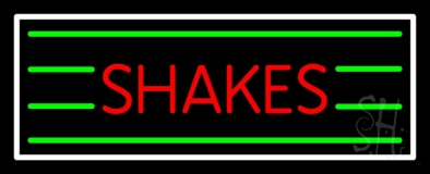 Red Shakes With White Border LED Neon Sign