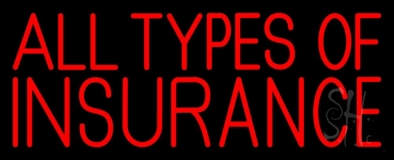 All Types Insurance LED Neon Sign