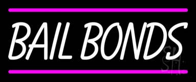 Bail Bonds With Pink Lines LED Neon Sign