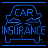 Blue Car Insurance Logo LED Neon Sign