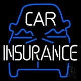 Blue Car Insurance LED Neon Sign