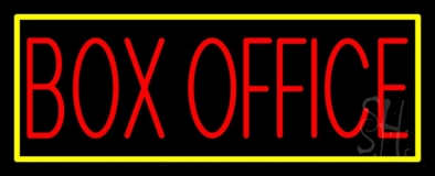 Box Office With Yellow Border LED Neon Sign
