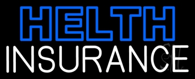 Double Stroke Health Insurance LED Neon Sign
