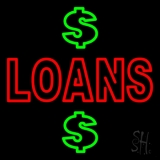 Double Stroke Loans With Dollar Logo LED Neon Sign