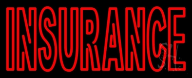 Double Stroke Red Insurance LED Neon Sign