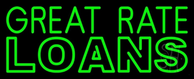 Great Rate Loans LED Neon Sign