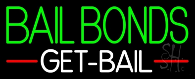 Green Bail Bonds Get Bail LED Neon Sign