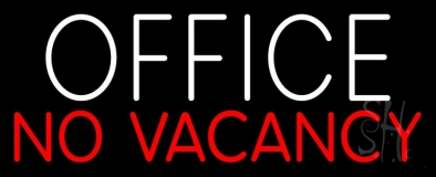 Office No Vacancy LED Neon Sign