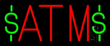 Red Atm 2 LED Neon Sign