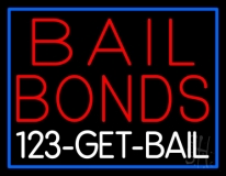 Red Bail Bonds Get Bail LED Neon Sign