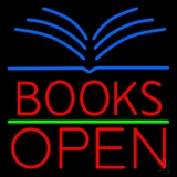 Red Books Open LED Neon Sign