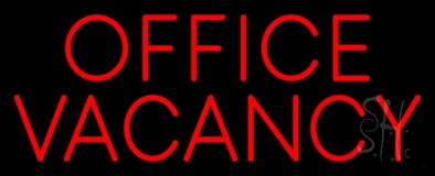 Red Office Vacancy LED Neon Sign