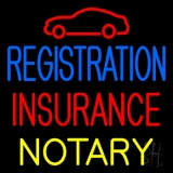 Registration Insurance Notary with Car Logo LED Neon Sign