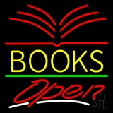 Yellow Books Open LED Neon Sign