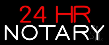 24 Hr Notary Neon Sign