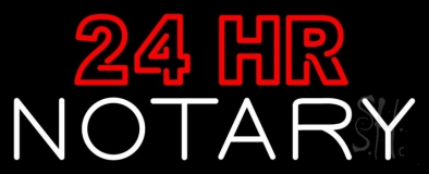 24 Hr Notary LED Neon Sign