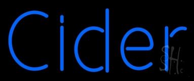 Blue Cider LED Neon Sign