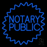 Blue Notary Public LED Neon Sign