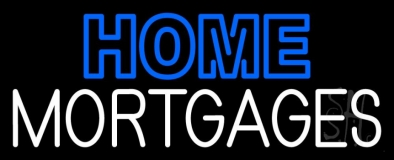 Double Stroke Home Mortgage LED Neon Sign