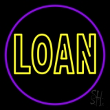 Double Stroke Round Loan LED Neon Sign