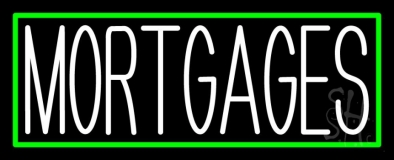 Green Mortgage With Green Border LED Neon Sign