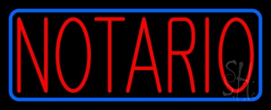 Red Notario LED Neon Sign