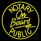 Round Notary Public On Board LED Neon Sign