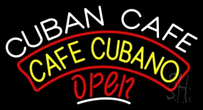 Cuban Cafe Open LED Neon Sign