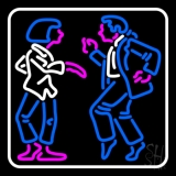 Dancing Couple With White Border LED Neon Sign