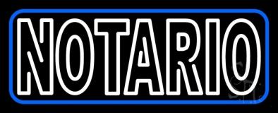Double Stroke Notario Open LED Neon Sign