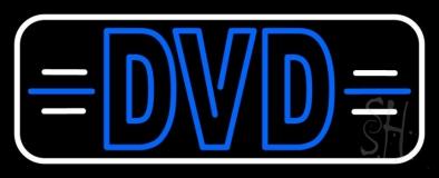 Dvd White Border LED Neon Sign