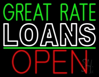Great Rate Loans Open LED Neon Sign