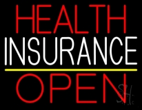 Health Insurance Open LED Neon Sign